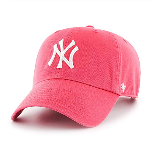 Gorra 47 Brand – Mlb New York Yankees Clean Up Curved V Relax Fit rojo  531319ffa7e