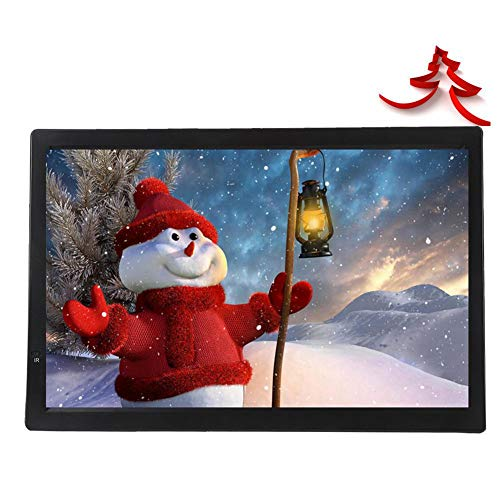 ASHATA 14 Inch Televisión Portátil,TFT-LED TV Digital para Coche,HDTV LCD 1080P Televisor Compatible con MKV,MOV,AVI,WMV,MP4,FLV,MPEG1-4,RMVB,Video,MP3,Apoyo AV/Tarjeta SD/MMC/USB/HDMI/VGA de ASHATA