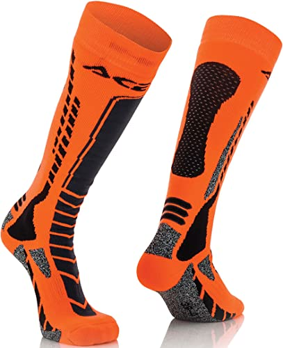 Acerbis Calcetines Moto Cross/Off Road MX Pro L-XL NERO-ARANCIO de Acerbis