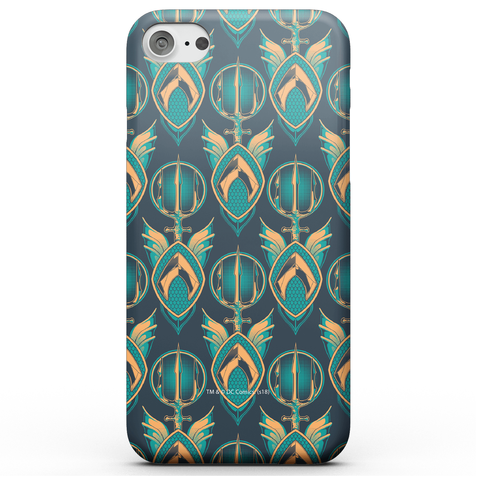 Funda Móvil DC Comics Aquaman para iPhone y Android - iPhone 6 - Carcasa rígida - Mate de DC Comics