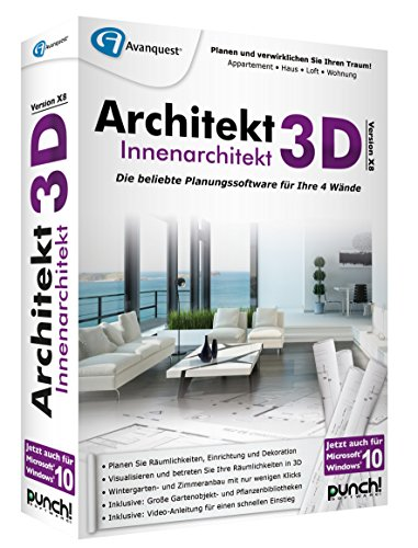 Avanquest Architekt 3D X8 Innenarchitekt - Software de diseño automatizado (CAD) (Alemán, PC, 1GHz Intel Pentium, 512 MB, 4500 MB, DVD-ROM) de Avanquest
