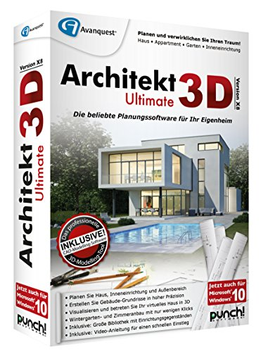 Avanquest Architekt 3D X8 Ultimate - Software de diseño automatizado (CAD) (Alemán, PC, 1GHz Pentium, 512 MB, 5500 MB, 1024 x 768 DVD-ROM) de Avanquest