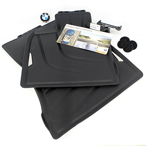 color negro # 51472347728 BMW F15/X5/all-weather Front goma Floor Mats * NEW