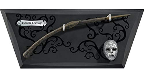 Noble Collection Bellatrix Wand with Wall Display & Mini Mask de Noble Collection