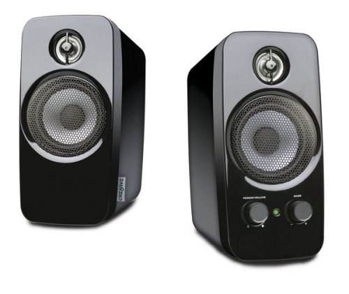 Creative Inspire T10 - Altavoces de ordenador (3.5 mm), color negro de CREATIVE