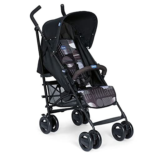Chicco London - Silla de paseo, 7.2 kg, compacta y manejable, color negro estampado (Matrix) de Chicco