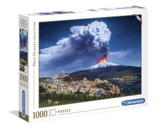 Clementoni – High Quality Collection – Puzzle Etna, 1000 piezas (39453 de Clementoni