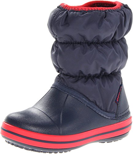 Crocs Winter Puff Boot Kids, Botas de Nieve Unisex Niños, Azul (Navy/Red), 24/25 EU de Crocs