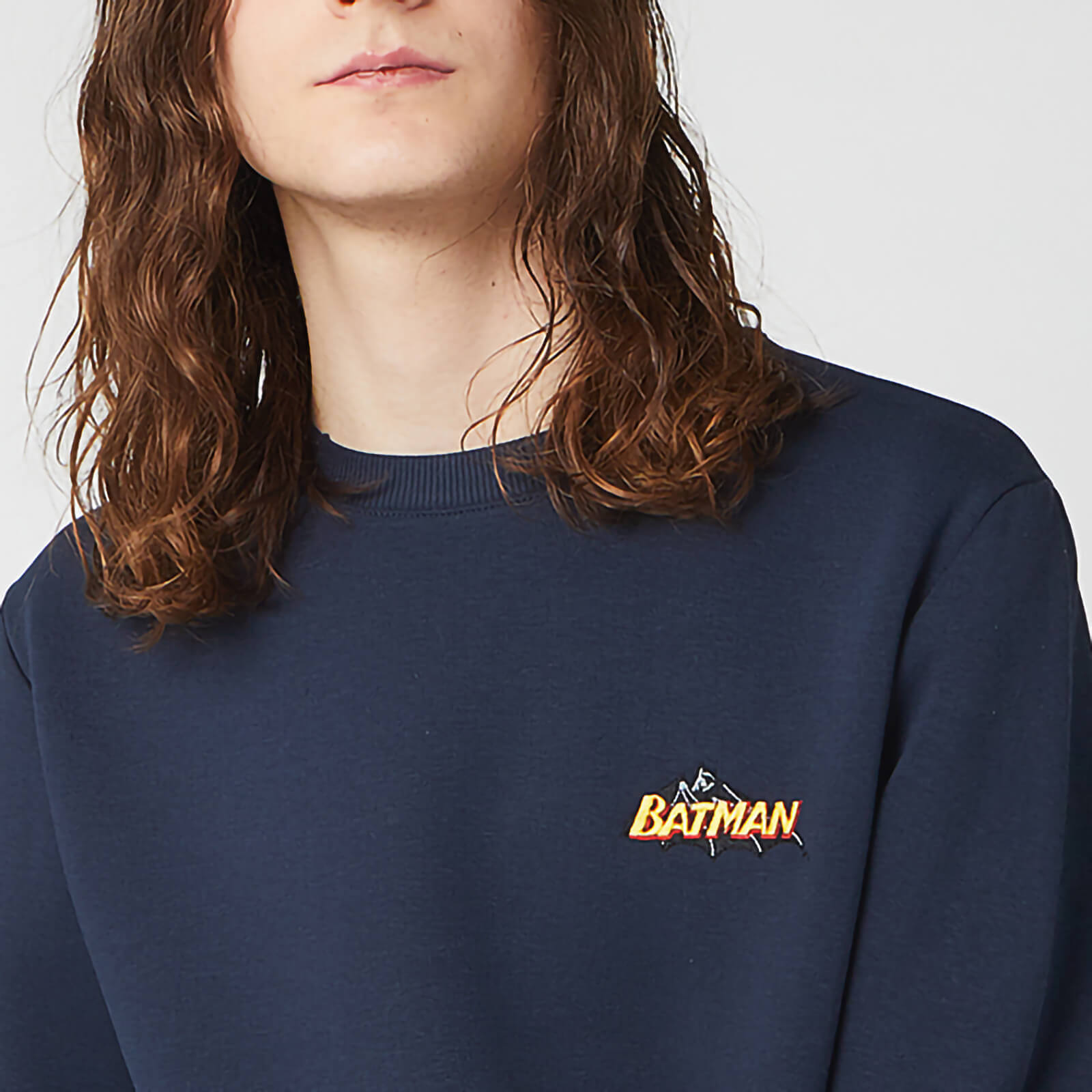 DC Batman Unisex Embroidered Sweatshirt - Navy - XXL - azul marino de DC Comics