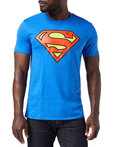 DC Comics Superman Logo, Camiseta para Hombre, Azul Royal M de DC Comics