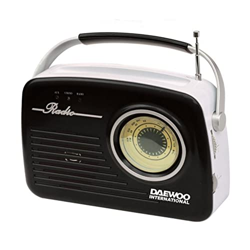 Radio Retro Daewoo Drp-130 Analogica Am/Fm- Usb- Sd Para Mp3- Negra de DAEWOO