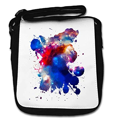 Cosmos Colorful Ink Splash Graphic Small Shoulder Bag de Desconocido