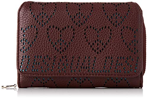 Desigual Wallet True Love Maria Mini, Billetera para Mujer, Rot (Ruby Wine), 9.5x3.5x14 Centimeters (B x H x T) de Desigual