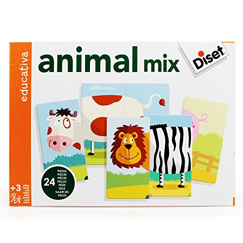 Diset - Juego Animal Mix (63975) de Diset