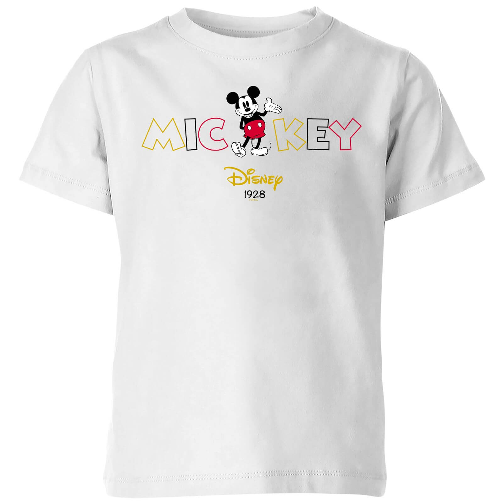 Disney Mickey Mouse Disney Wording Kids' T-Shirt - White - 3-4 años - Blanco de Disney