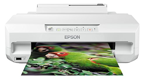 Epson Expression Photo XP-55 - Impresora fotográfica (impresión directa desde CD o DVD), color blanco, Ya disponible en Amazon Dash Replenishment de Epson