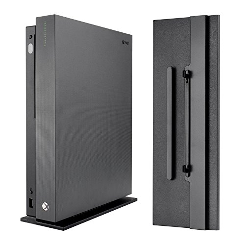 eXtremeRate Soporte Vertical/Vertical Stand con Antideslizantes pies para Consola Xbox One X Negro de eXtremeRate