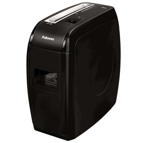 Fellowes 21Cs - Destructora trituradora de papel, corte en partículas, 12 hojas, negro de Fellowes