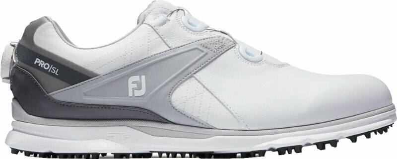Footjoy Pro SL Mens Golf Shoes White/Grey US 7,5 de Footjoy