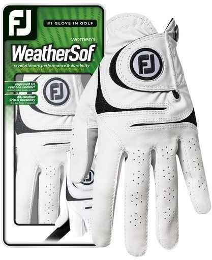 Footjoy WeatherSof Womens Golf Glove 2018 White Left Hand for Right Handed Golfers S de Footjoy