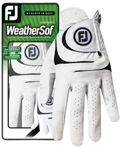 Footjoy WeatherSof Womens Golf Glove 2018 White Right Hand for Left Handed Golfers ML de Footjoy