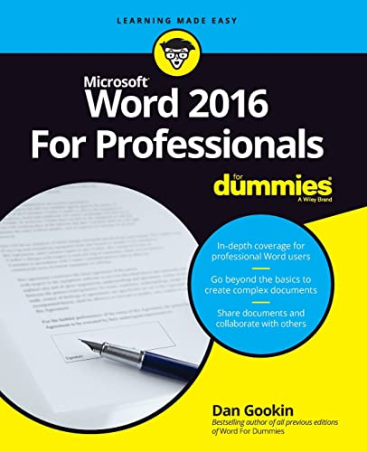 Word 2016 For Professionals For Dummies de For Dummies