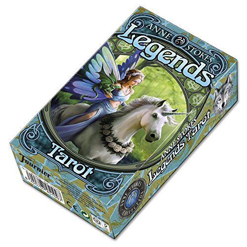 Fournier Tarot Legends por Anne Stokes Baraja de Cartas, Color Verde (1031264) de Fournier