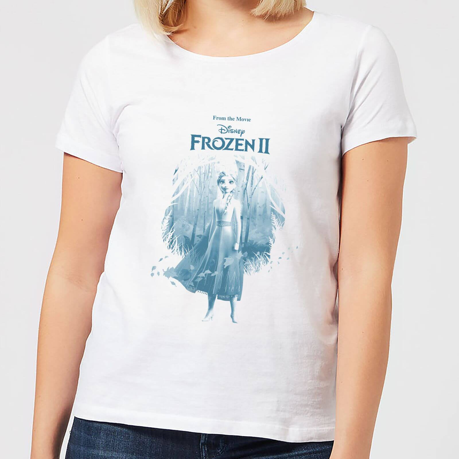 Frozen 2 Find The Way Women's T-Shirt - White - L - Blanco de Disney