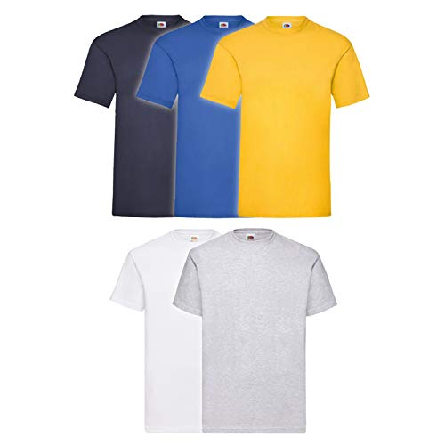 Fruit of the Loom 5X 61-036-0 - Camiseta, Hombre, Colour Set III, XL de Fruit of the Loom