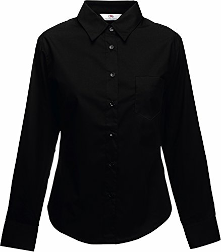 Fruit of the Loom Poplin, Camisa para Mujer, Negro, X-Large de Fruit of the Loom
