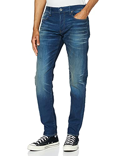 G-STAR RAW 3301 Slim Fit Jeans Vaqueros, Worker Blue Faded, 29W / 30L para Hombre de G-STAR RAW