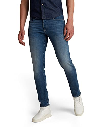 G-STAR RAW 3301 Slim Fit Vaqueros, Medium Aged 8968-2965, 33W / 34L para Hombre de G-STAR RAW