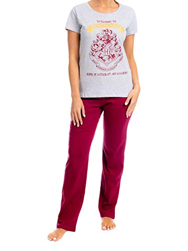 HARRY POTTER Pijama para Mujer Hogwarts Rojo Small de HARRY POTTER