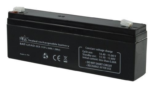 HQ Batterie au Plomb-acide recargable 12 V 2000 mAh 178 mm x 34 mm x 66 mm de HQ de HQ