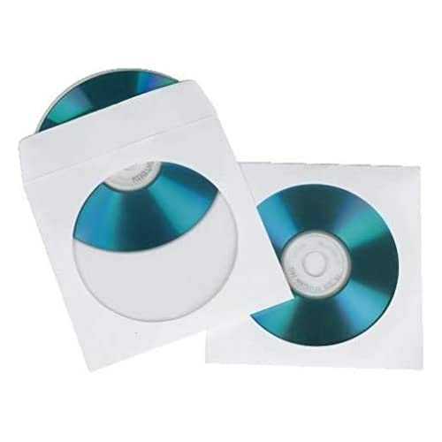 Hama - CD-ROM Paper Sleeves 50, White, Blanco de Hama