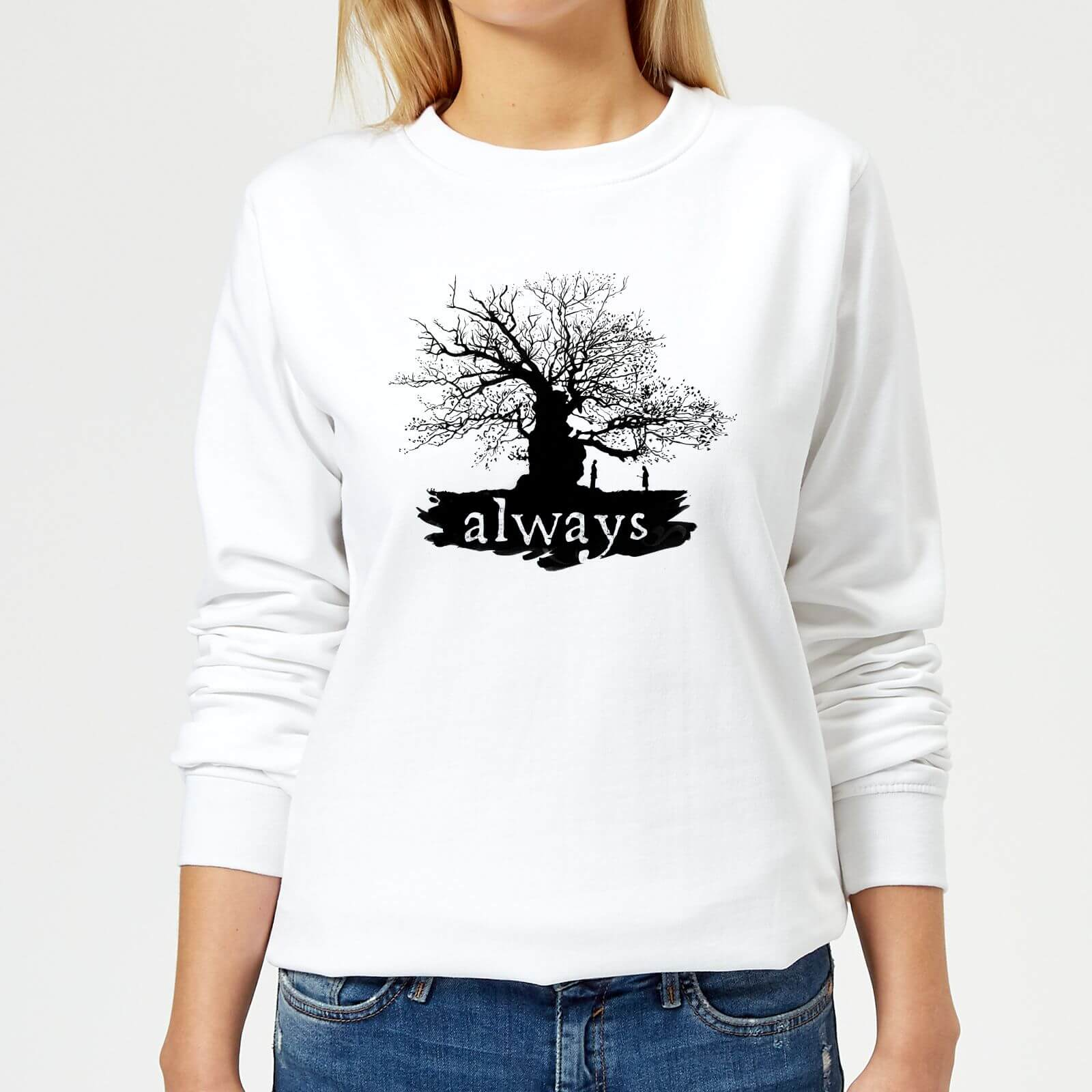 Harry Potter Always Tree Women's Sweatshirt - White - L - Blanco de Harry Potter