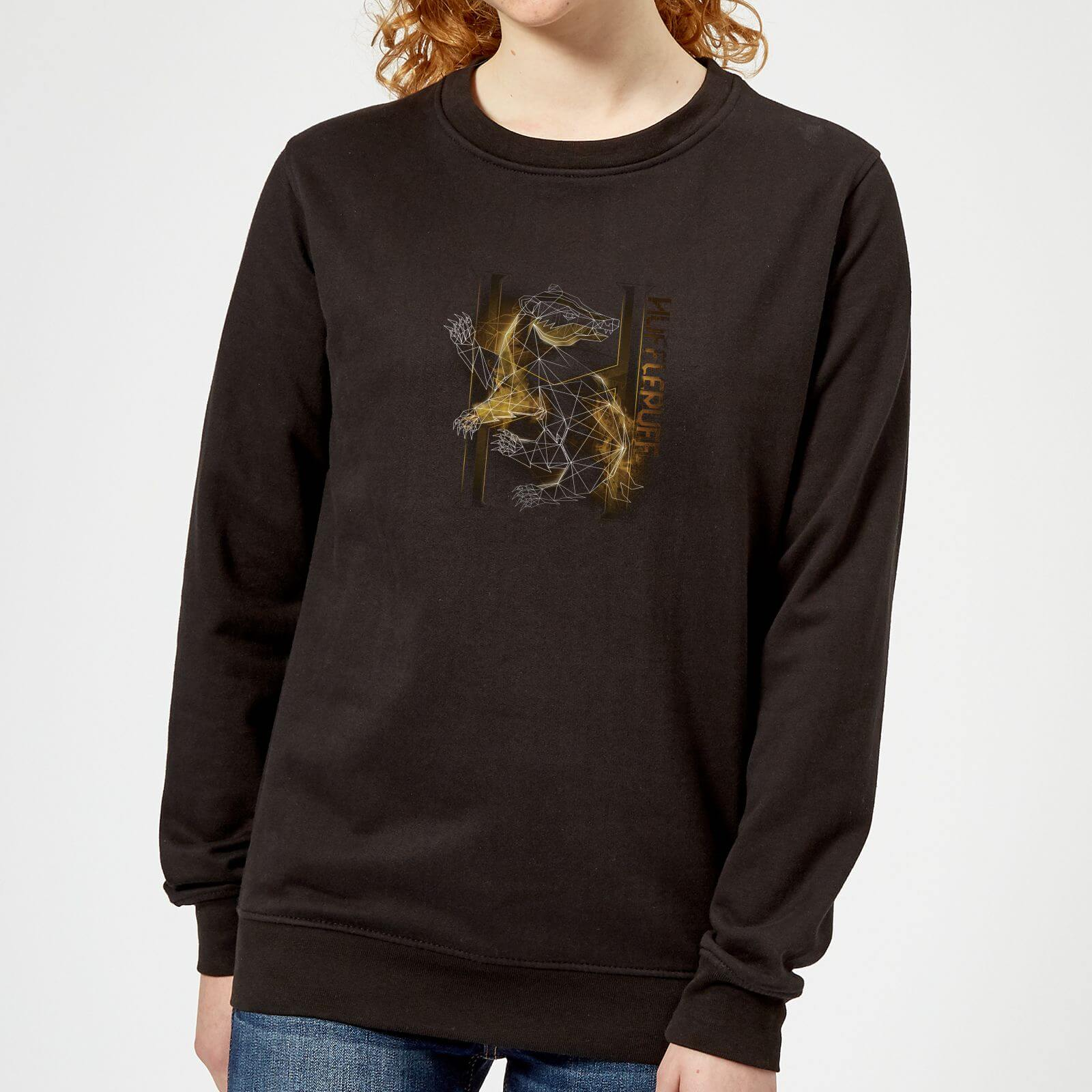 Harry Potter Hufflepuff Geometric Women's Sweatshirt - Black - XL - Negro de Harry Potter