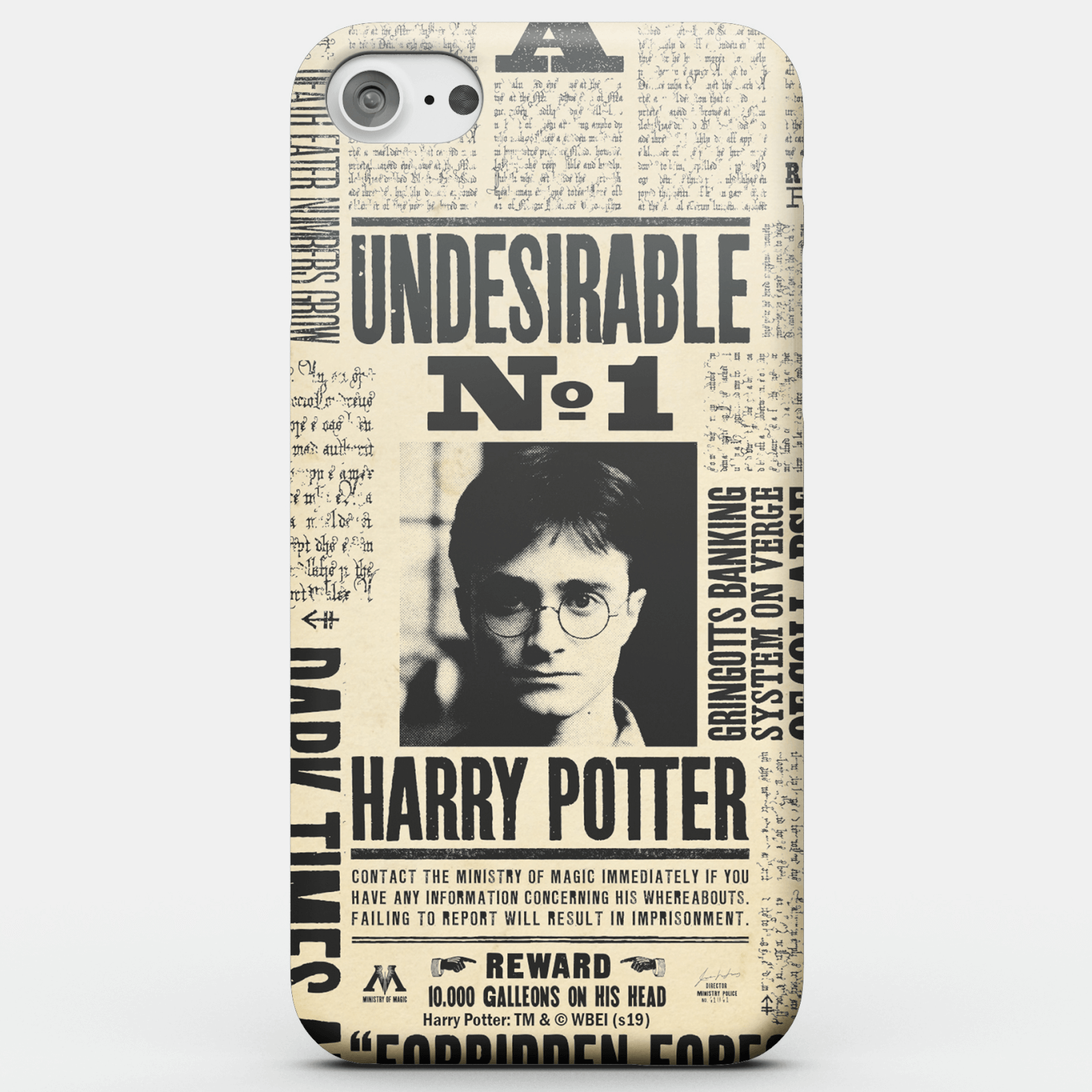 Harry Potter Phonecases Undesirable No. 1 Phone Case for iPhone and Android - iPhone 7 Plus - Carcasa rígida - Brillante de Harry Potter