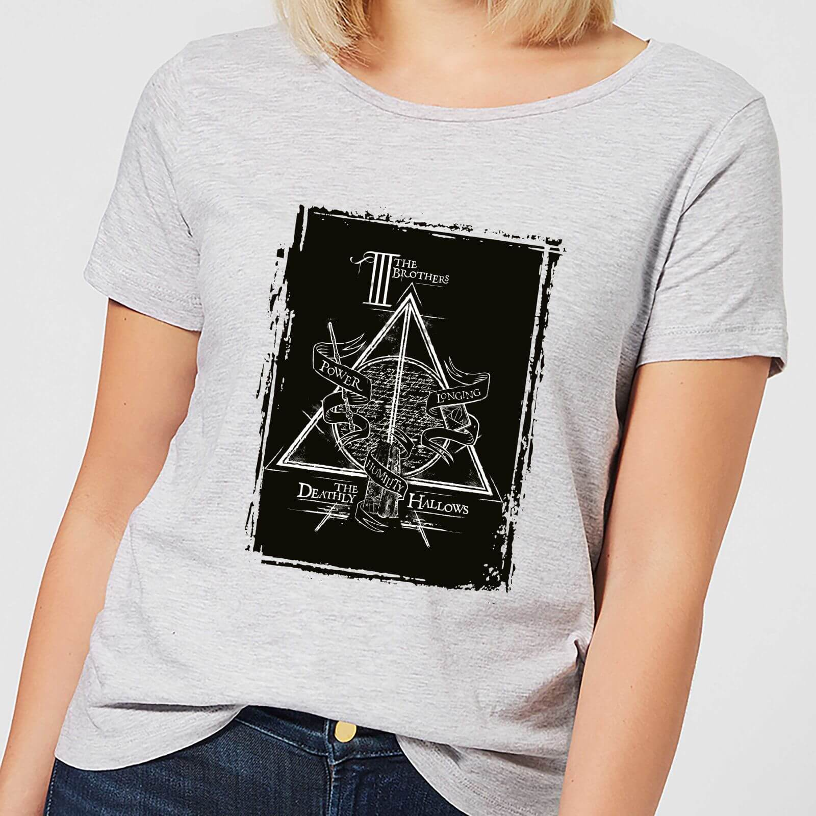 Harry Potter Three Brothers Women's T-Shirt - Grey - M - Gris de Harry Potter