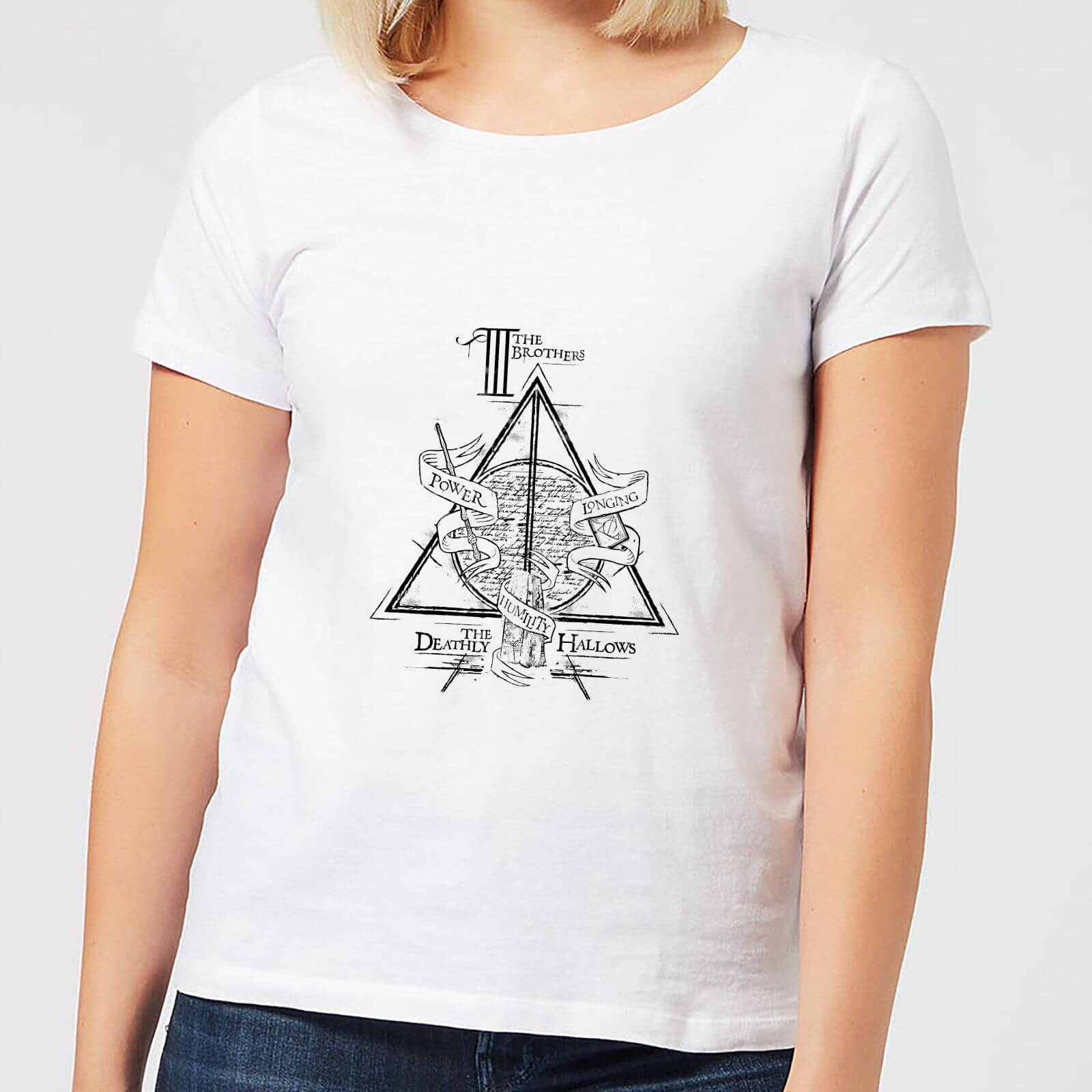 Harry Potter Three Dragons White Women's T-Shirt - White - L - Blanco de Harry Potter
