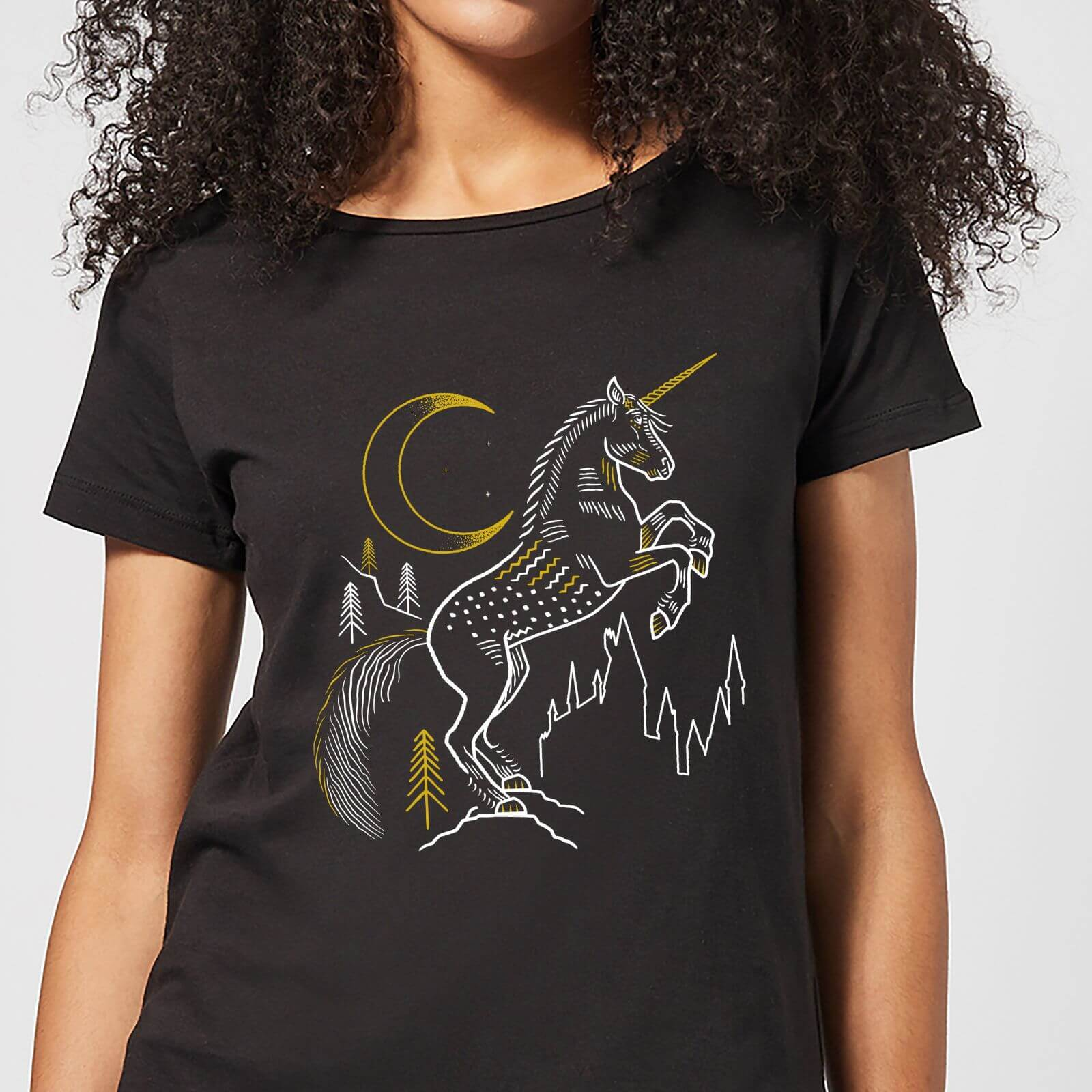 Harry Potter Unicorn Women's T-Shirt - Black - XXL - Negro de Harry Potter