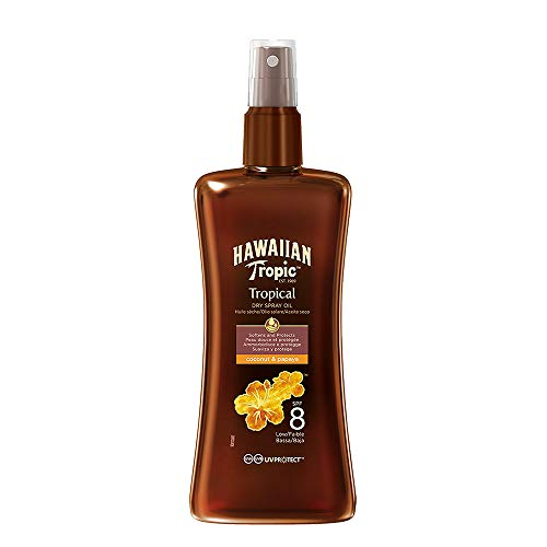 Hawaiian Tropic Aceite Spray SPF8-200 ml de HAWAIIAN Tropic