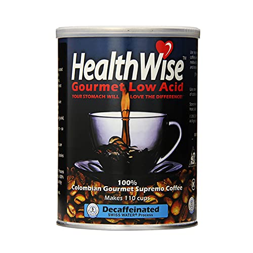 Healthwise Low Acid Columbian Gourmet Supremo Decaffeinated Coffee, 12 Ounce de HealthWise