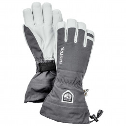 Hestra - Army Leather Heli Ski 5 Finger - Guantes size 11, gris/negro de Hestra