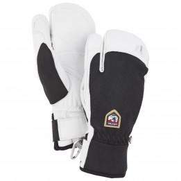 Hestra - Army Leather Patrol 3 Finger - Guantes size 8;9, negro/blanco/gris;gris/blanco de Hestra
