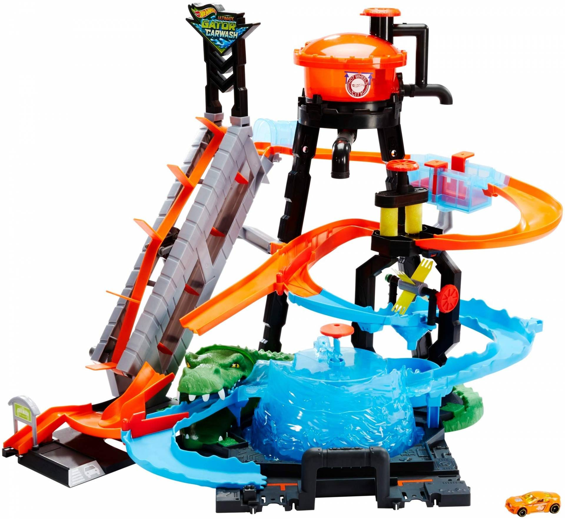 Hot Wheels Cocodrilo Destructor, pista de coches de juguete (Mattel FTB67) de Hot Wheels