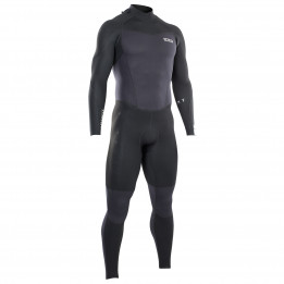 ION - Wetsuit BS Element Semidry 3/2 BZ DL - Traje de neopreno size 50 - Regular, negro/gris de ION