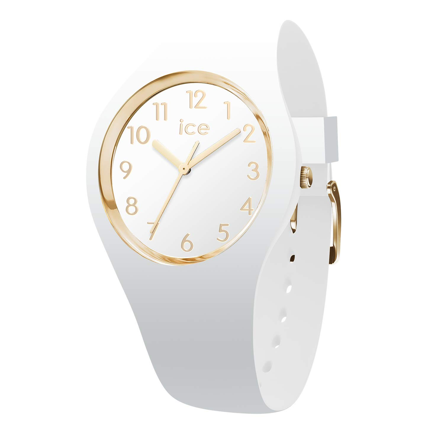 b3027826e98a Ice-Watch - ICE glam White Gold Numbers - Reloj bianco para Mujer con Correa