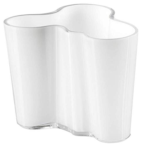 Iittala 000440 Aalto - Jarrón (95 mm), color blanco de Iittala