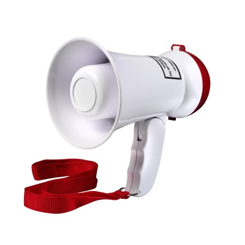 Intenso 9504002 - Megafono mini 5W, color rojo/blanco de Intenso